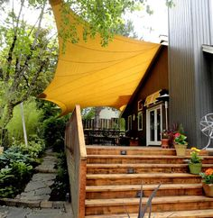 Shade sail. From danger garden: The 9th Annual Designers Garden Tour from the ANLD...