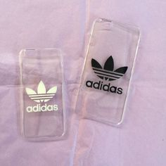 Transparent hard iPhone cover case with Adidas logo 5 6 by Zocan