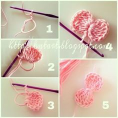 Easy Crochet: Flowers & Bows - Page 3 of 31 - Free Crochet Patterns Crochet Diy, Crochet Simple, Crochet Amigurumi, Crochet Motifs, Crochet Crafts, Crochet Stitches, Crochet Projects, Quick Crochet, Crochet Beanie