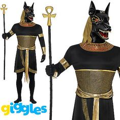 Mens #anubis costume egyptian god the jackal adult #halloween fancy dress #outfit,  View more on the LINK: 	http://www.zeppy.io/product/gb/2/381402553118/