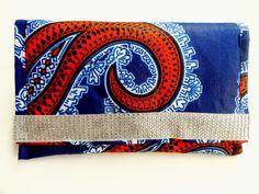 Ankara/African fabric clutch  by Zabba Designs by ZabbaDesigns, $25.00