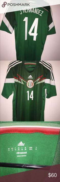0f45340dc ... Adidas J.Hernandez Mexico National team jersey Javier Hernandez AKA  Chicharito authentic adidas soccer jersey 18 Mexico Andres Guardado Mens ...