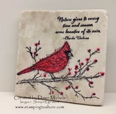 This card that Katherine made is just delightful and so very easy to make, too! I should know as I had all of my club members making it...