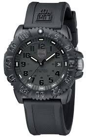 Luminox Men's 3051.BO Navy Seal Colormark 3050 Series All Black With Rubber Band Watch