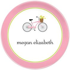 Bicycle personalized melamine plate Haha I didn't make this one but it has my name!
