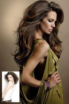 Long, brown waves, sexy hairstyle - Great Lengths Hair Extension (www.greatlengths.pl)