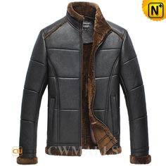 Sheepskin Shearling Bomber Jacket CW858310 Handsome men's sheepskin bomber jacket crafted from Australian sheepskin with fur shearling material, classics shearling sheepskin jacket featuring with shearling trim collar,cuffs and hem, handwarmer pocket keep you warm.  www.cwmalls.com PayPal Available (Price: $1457.89) Email:sales@cwmalls.com