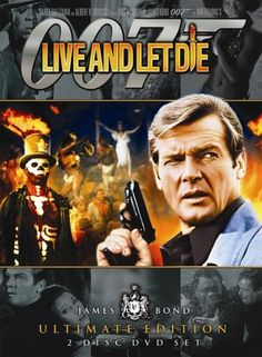"""""""Live And Let Die"""" with Roger Moore as James Bond is another favorite Bond - of course I love and own all 23 Bond movies! Roger Moore, James Bond Movie Posters, James Bond Movies, Pierce Brosnan, Burt Reynolds, Jane Seymour, Paul Mccartney, Em Breve Nos Cinemas, Beatles"""