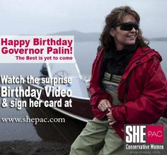 Allen & Angela West, Ted Cruz, Mike Lee, Mark Levin, Duck Dynasty, Newt, Gov Brewer AND MANY MORE REACH OUT BY VIDEO TO wish former Alaska Governor Sarah Palin a happy 50th Birthday.  WATCH: