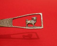 Pug Dog Design Pewter Letter Opener Gift by ThimblesnObjectDart