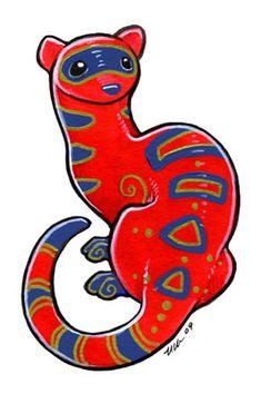 Vivid Ferret by Ursula Vernon