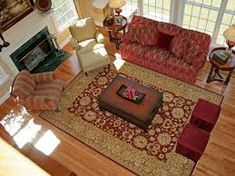 Traditional Living Rooms With Oriental Rugs: Traditional Living Room With Red Sofa And Oriental Area Rug Living Room Area Rugs, Living Room Red, Living Room Carpet, Room Rugs, Living Room Images, Living Room Designs, Red Oriental Rug, Large Area Rugs, Interiores Design