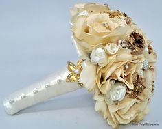 Champagne Rose:) #wedding #bouquet