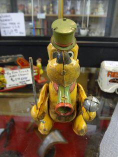 Vintage Wind Up Walt Disney Pluto Marx Tin Toy~~
