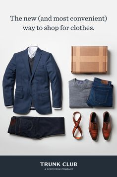 Trunk Club's personal stylists take the hassle out of shopping by finding you clothes that match your lifestyle and budget. Plaid Outfits, Dope Outfits, Fashion Outfits, Men's Outfits, Dapper Gentleman, Gentleman Style, Gentleman Rules, Clothing Subscription Boxes, Clothing Boxes