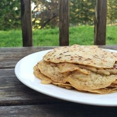 """""""Why don't you just make tortillas like you make crepes? Wouldn't that be easier?"""" said my husband. YES! His insight blessed me. Why hadn't I thought of this sooner? A normally hour-long messy tortilla-creating endeavor is transformed into a clean, no-rolling required, 20-minute tortilla fiesta!"""