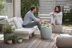 51 Outdoor Side Tables That Will Add Convenience To Your Outdoor Experience Fire Pit Seating, Outdoor Seating, Outdoor Chairs, Indoor Outdoor, Outdoor Living, Outdoor Decor, Patio Furniture Sets, Unique Furniture, Furniture Design