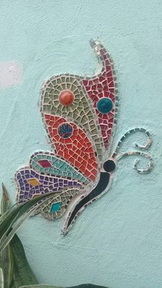 Butterfly Mosaic, Mosaic Birds, Mosaic Wall, Moon Garden, Mosaic Garden, Mosaic Crafts, Mosaic Projects, Glass Ceramic, Mosaic Glass