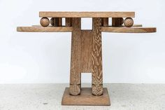 Fine Cerused Oak Occasional Table of Unusual Form Attributed to James Mont 9