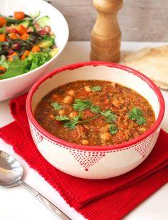 Best Vegan Moroccan Harira Soup One Arab Vegan, recipes images posted by Elena Kurz, on January , EasyFood, easyrecipe. Vegan Recipes Videos, Vegetarian Recipes, Cooking Recipes, Healthy Recipes, Healthy Foods, Food Trucks, Tortellini, Harira Soup, Moroccan Vegetables