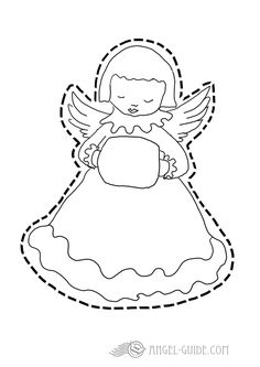 cherub template free printable angel template for christmas kids activities to color and cut at