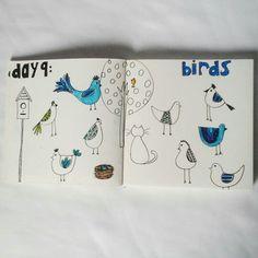 Day 9: birds #sketchbook #creativebug #lisacongdon