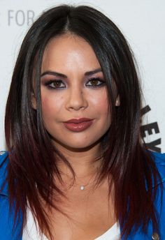 Janel Parrish's Pink and Purple Shadow