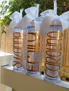 Personalized Water Bottle Party Gifts Bridesmaid Gift Wedding Bride's Babes Gift Tumbler with Straw Bachelorette Party Gift Flower Girl Gifts For Wedding Party, Party Gifts, Wedding Favors, Fun Gifts, Wedding Ideas, Wedding Art, Girl Gifts, Trendy Wedding, Wedding Details
