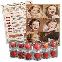 Besame lipstick sampler set, the old kind.