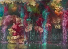 Kim Keever Paint in Water abstract art.