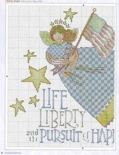 LIBERTY ANGEL cross stitch pattern. Gallery.ru / Фото #26 - 40 - ZinaidaR