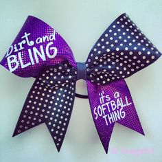 Dirt and bling it's a softball thing purple holographic fabric with black fabric and rhinestones.