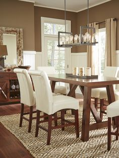 The Mango dining room has a classic style that creates a warm gathering place for family and friends.