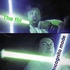The fbi vs incognito mode the force awakens luke kylo funny