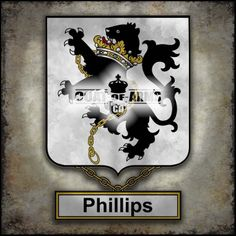 Phillips Family Crest - English Coat of Arms (GB)