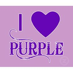 Purple is one of my favorite colors. I'm -strongly- feeling purple this year, for some reason. More than ever...