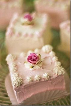 These tea cakes are so sweet. Perfect for bridal shower or tea party