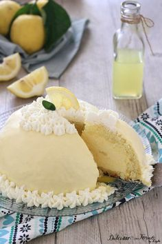 Lemon Recipes, My Recipes, Sweet Recipes, Real Food Recipes, Cake Recipes, Italian Pastries, Italian Desserts, Italian Recipes, Mousse Cake
