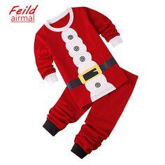 58187f2668ea86 Ropa para niños ropa de Dormir y Robe Pijamas de dormir de color rojo  conjuntos de · Vestiti NataleCostumi ...
