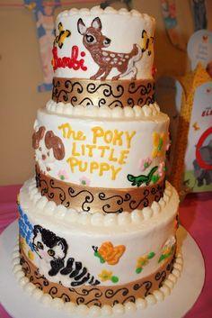 Little Golden Books Birthday Cake #littlegoldenbooks #cake