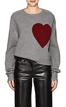 c0f5b7b95cfd Heart-Knit Wool-Cashmere Sweater Stockinette