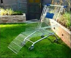 redneck shopping cart lounge chair...