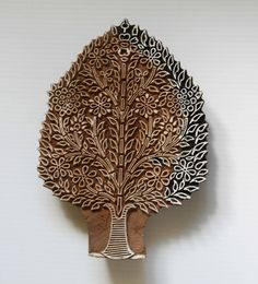 Tree | Indian Wood Block Indian Prints, Indian Textiles, Textile Sculpture, Fabric Stamping, Embroidery Motifs, Wood Stamp, Arts And Crafts Movement, Wooden Blocks, Tree Art