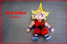 El edén de las mamalidades. Son Goku supersaiyan. Amigurumi.