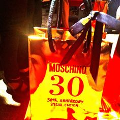 The special gift from Moschino's SS14 show. Happy 30th! #mfw #fashionweek
