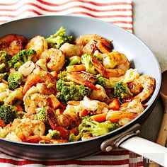 Packed with nutrient-rich veggies and marinated in fragrant rosemary and orange juice, this make-ahead meal is healthy and delectable. Best of all, the shrimp and veggies can be frozen in their marinade for up to a month, allowing ample time for the development of delicious flavor.
