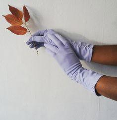 1950s gloves   vintage 50s gloves   vintage evening gloves   periwinkle gloves   dress gloves   Gina's Gloves