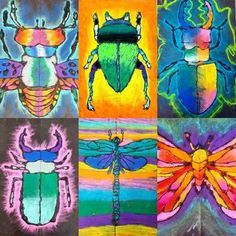 I'm buggin' out over here you guys… look at these grade chalk insects! C… I'm buggin' out over here you guys… look at these grade chalk insects! Symmetry Art, Oil Pastel Art, Oil Pastels, Chalk Pastel Art, Chalk Pastels, 2nd Grade Art, Bug Art, Ecole Art, Insect Art
