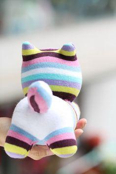 Handmade plush Sock Cat Personalized stuffed animal dolls Soft Toys Cat sock toys baby Home Decor soft doll