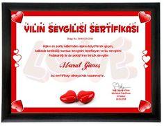 Sevgilinize, size aşk gibi güzel bir duyguyu yaşattığı için teşekkür etmenin en romantik hali yılın sevgilisi sertifikasında gizli.. Üzerindeki metni değiştirebileceğiniz bu sertifika yeni yılın en romantik sürprizi olmaya hazır!  Ürün detayları için: http://www.buldumbuldum.com/hediye/kisiye_ozel_yilin_sevgilisi_sertifikasi/